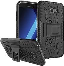 "Ikwcase Galaxy A7 2017 Case, Heavy Duty Armor Tough Hybrid Shockproof Dual Layer Kickstand Protective Case Cover for Samsung Galaxy A7 2017 (2017) A720 5.7"" Black"