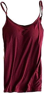 Women's Adjustable Padded Bra Camisole Top