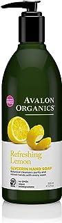 Avalon Organics Glycerin Hand Soap, Refreshing Lemon, 12 Fluid Ounce
