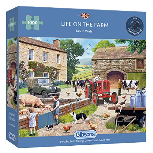Gibsons G6304 Life on The Farm 1000 Teile Puzzle