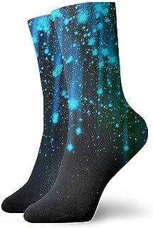 Dydan Tne, Calcetines de Vestir de Luces de neón Negras y Azules Calcetines Divertidos Calcetines Locos Calcetines Casuales para niñas Niños