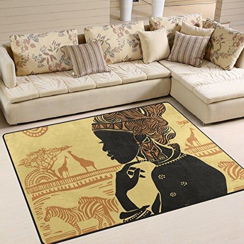 JSTEL ingbags Super Weich Modern Afrika Frau, EIN Wohnzimmer Teppiche Teppich Schlafzimmer Teppich für Kinder Play massiv Home Decorator Boden Teppich und Teppiche 160x 121,9cm, Multi, 80 x 58 Inch
