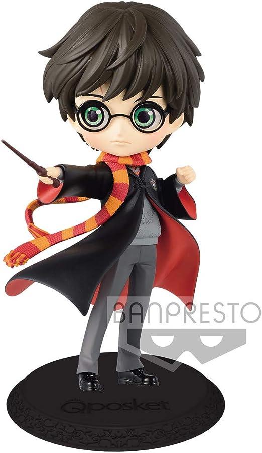 Banpresto - Q Posket, Harry Potter, Figura Harry Varita (Bandai 82574)