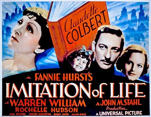 Imitation Of Life, Claudette Colbert & Warren William, Rochelle Hudson, 1934 - Foto-Reimpresión película Posters 32x25 pulgadas - sin marco