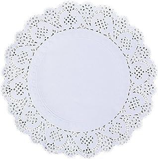 150x Chytaii Napperon Papier en Dentelle Rond pour Gâteaux/Pâtisserie 6,5 8,5 10,5 Pouces