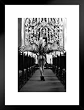 Poster Foundry Angel of Lust by Daveed Benito Black White Matted Framed Wall Art Print 20x26 inch