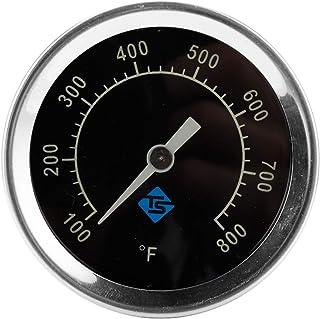 YUZI, termometro analogico per barbecue per coperchio a gas con indicatore di temperatura della luce notturna 426,7 °C