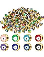160 قطعة من الخرز الأكريليكي الشر في صناعة يدوية ساحرة لصناعة المجوهرات لمستلزمات القلادات والأساور المنزلية و8 ألوان