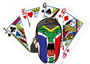 DIYthinker South Africa Flag Facial Makeup Cap Poker Playing Cards Tabletop Game Gift