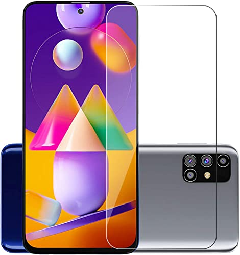 POPIO Tempered Glass For Samsung Galaxy M31s Transparent Full Screen Coverage Except Edges Pack Of 1