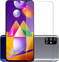 POPIO Tempered Glass for Samsung Galaxy M31s (Transparent) Full Screen Coverage (except edges), Pack of 1