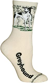 Wheel House Designs Greyhound Argyle Socks (Shoe size 9-12)