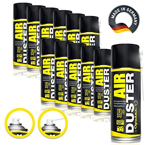 12x400ml 400ml Oputec Air Duster Tastatur Reiniger - Druckluftspray Druckgasreiniger