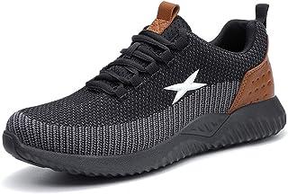 Zapatos de Seguridad para Hombre Transpirable Ligeras con Puntera de Acero Zapatillas de Seguridad Trabajo, Calzado de Ind...