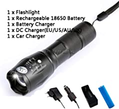 12000LM LED Tactical Flashlight Super Bright Rechargeable Zoomable Waterproof Torch linterna Best Camping, Outdoor for AA,...