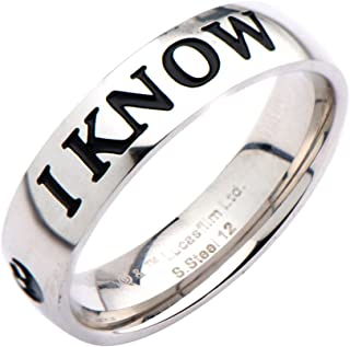 Star Wars I Love You, I Know Ring Special Edition Premium Gift Couple Han Leia