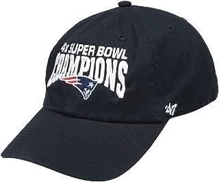 '47 New England Patriots 2014 Super Bowl XLIX Champions 4X Champs Black Clean Up Cap