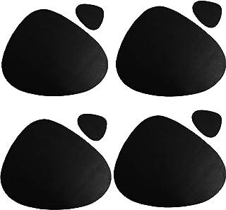 LIZHAIMING Lot de 4 Sets de Table et Dessous de Verre ovales en Cuir PU, 45.5x36.5 cm Lavables Antidérapants Lavables pour...