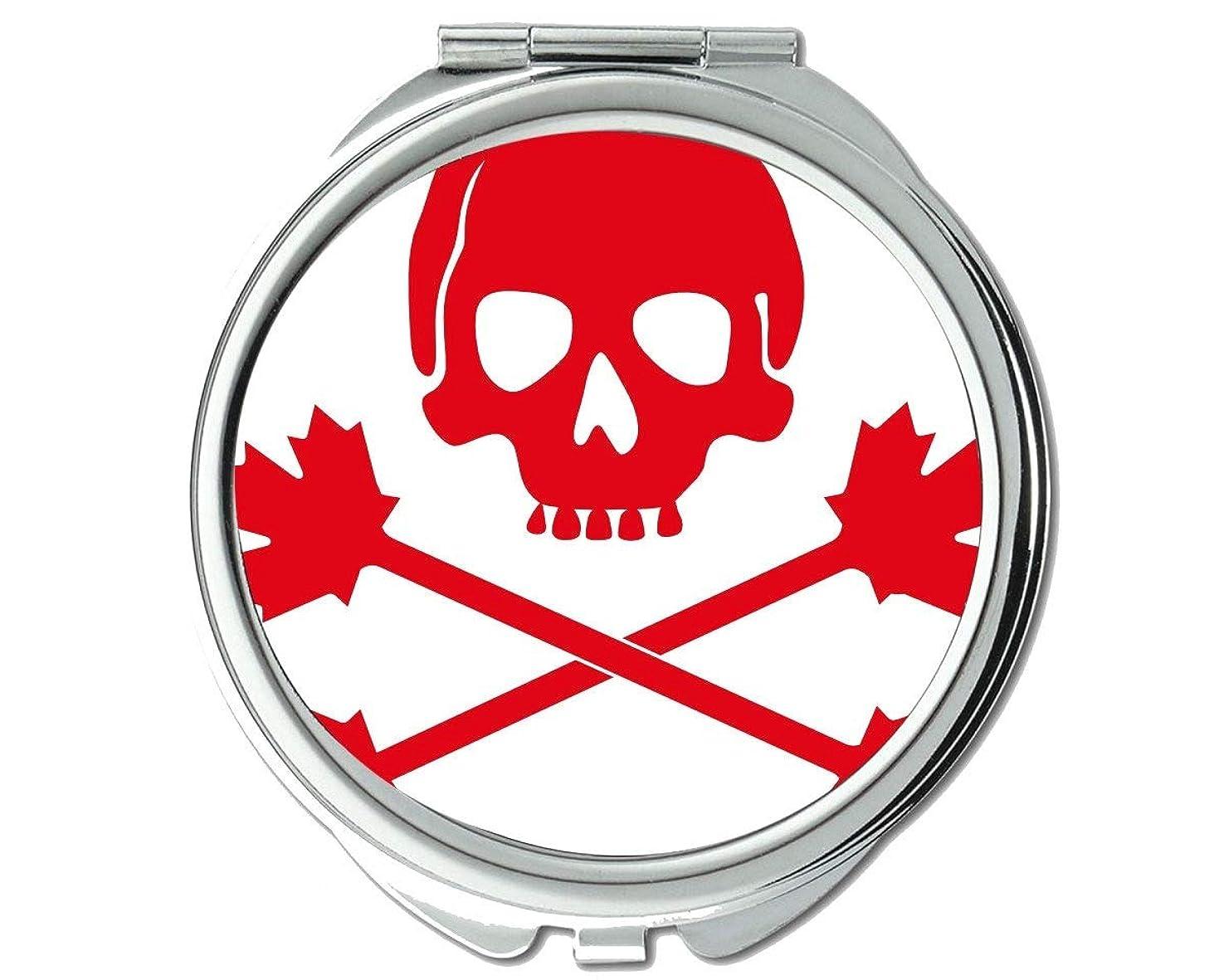 認可ディレイ満足できるミラー、ラウンドミラー、海賊旗カナダ、ポケットミラー、1 X 21 X拡大鏡
