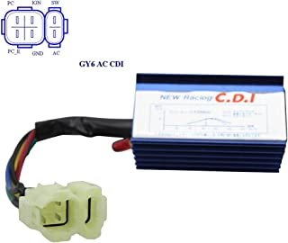 GOOFIT 6 Pin AC Racing CDI Module for GY6 50cc-150cc ATV Scooter
