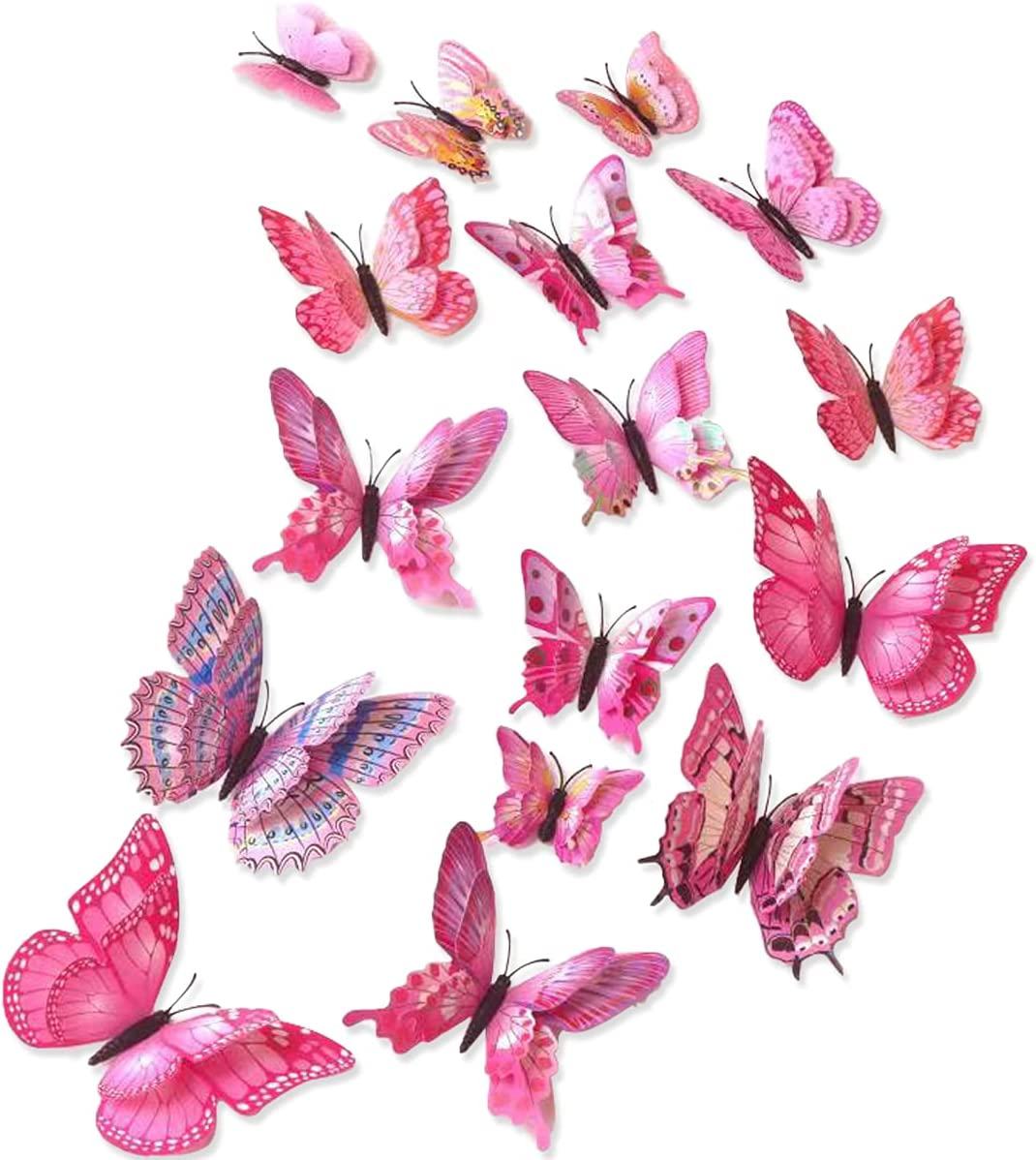 24PCS Butterfly Wall Decals Stickers Jacksonville Challenge the lowest price of Japan Mall Remova 3D Butterflies