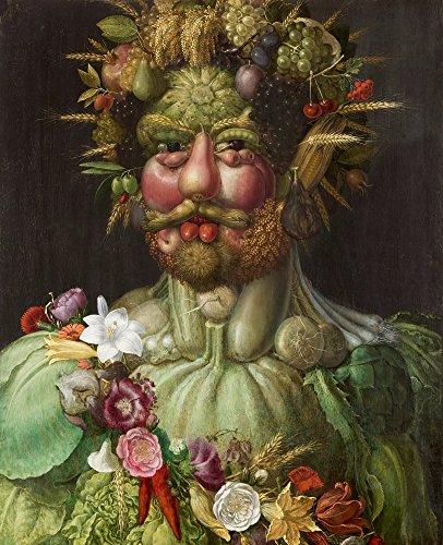 Berkin Arts Giuseppe Arcimboldo Giclee Kunstdruckpapier Kunstdruck Kunstwerke Gemälde Reproduktion Poster Drucken(Rudolf II. Von Habsburg als Vertumnus)