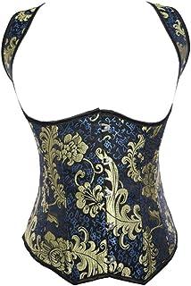 Women Jacquard Open Bust Underbust Corset, Waist Training Corsets Vest Slim Body Shaper for Dancing, Party, Fashion Show, ...