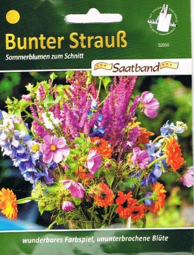 Sommerblumen zum Schnitt Bunter Strauß Saatband Blumen
