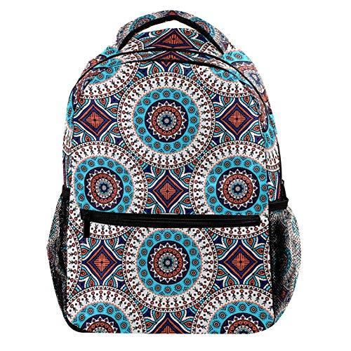Indian Floral Mandala Laptop Backpack for Men School Bookbag Travel Rucksack Daypack School Bag for Women Girls