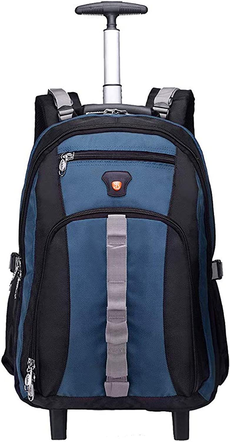 a72ec1667c52 CarryOn Backpack Wheeled Rolling Business Bag Travel Resistant Water ...