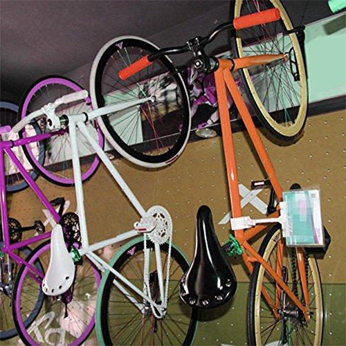 Yahee 2x Set Fahrradhalter Fahrrad Wandhalter Fahrradhaken Wandmontage Aufbewahrung mit Schrauben, Schwarz - 4