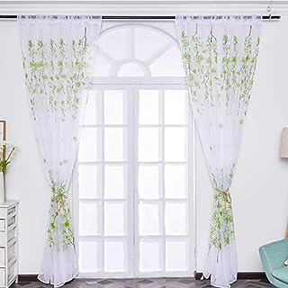 Wanshop Crystal Bead Curtains 2 Meter Crystal Glass Bead Curtain Living Room Bedroom Window Door Wedding Decor Clear