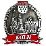 I LOVE KÖLN Kühlschrankmagnet aus Metall, stark, Kölner Dom Magnet als Deko für Kühlschrank Magnettafel Magnetwand Whiteboard