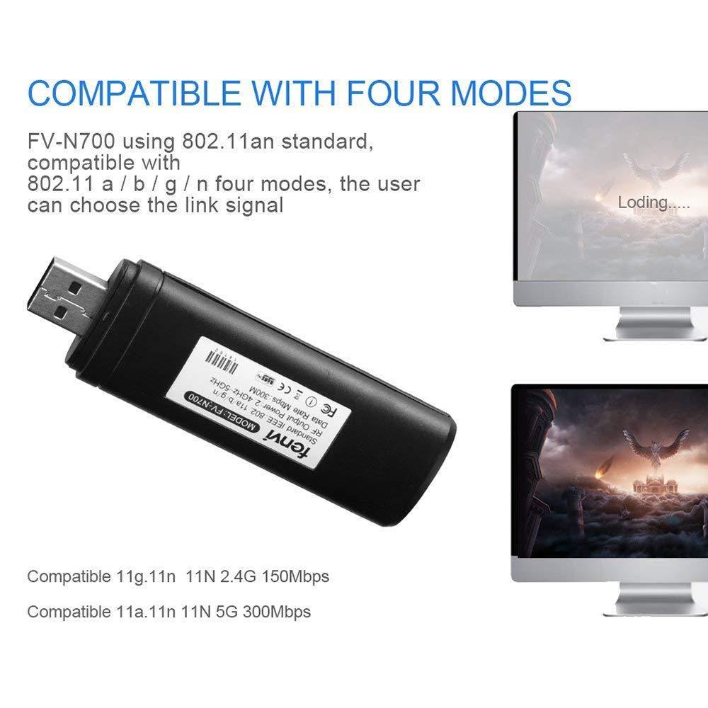 Adaptador WiFi inalámbrico para TV USB 802.11a/b/g/n2,4 GHz 5 GHz ...