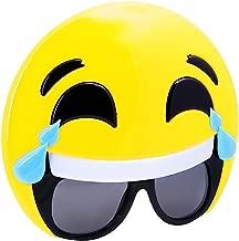 Sunstaches Emoticon Tears Sunglasses, Party Favors, UV400