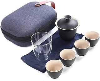 GaoYunQin Service à thé de Voyage Service a Thé Adulte Voyage Portable Style Chinois Traditionnel Céramique Tasses a Thé T...
