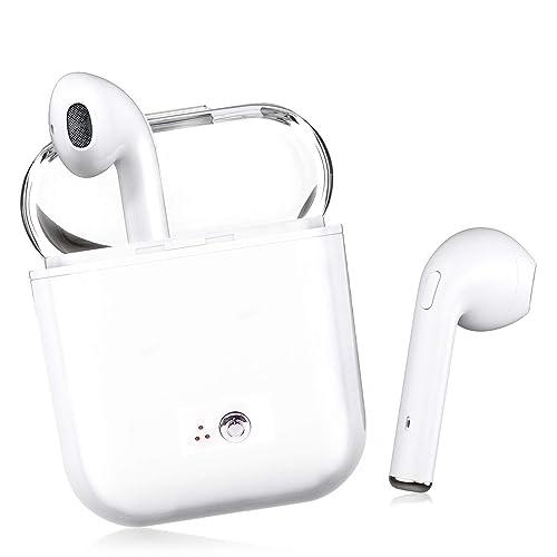 Auriculares Bluetooth,Auriculares antitracción Bluetooth Auriculares estéreo inalámbricos Mini Auriculares Manos Libres,Kit de Carga,para iPhone X/8/7/6/s Samsung Galaxy S7 S8 iPad/Android Smartphone