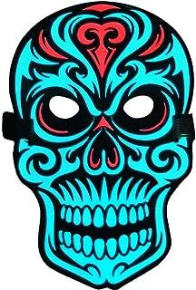 Sound Activated Masks LED Halloween Mask Dance Rave Masks