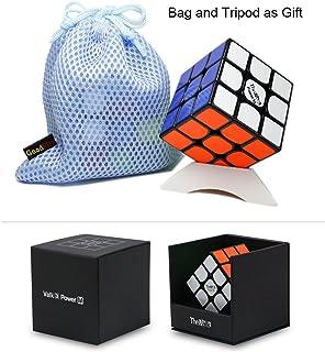 OJIN VALK 3 Power M Valk3 Power M Magic Cube 3x3x3 Smooth Magic Puzzle Cube con One Cube Tripod y One Cube Bag (Negro)