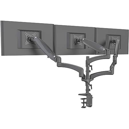 Hftek Monitorarm Triple Halterung Halter Tischhalterung Für 3 Bildschirme Von 15 27 Zoll Mit Vesa 75 100 Gm138db Küche Haushalt