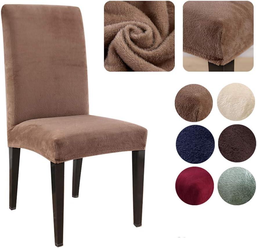 color negro Funda para silla de felpa AllRing 2020 gruesa el/ástica hoteles para bodas extra/íble eventos