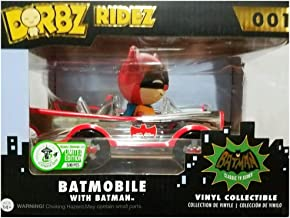 Funko Dorbz Ridez - Batmobile with Batman (Chrome) #001 - 2016 ECCC Exclusive Limited Edition of 500