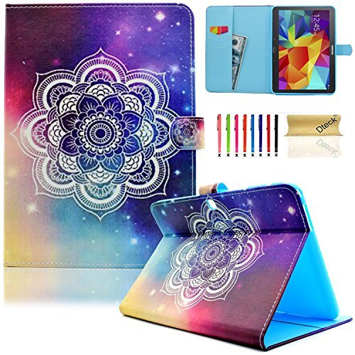Galaxy Tab 4 10.1 Case, Dteck(TM) Thin Folio Stand Cover with Auto Wake/Sleep Feature Magnetic Smart Shell Wallet Case for Samsung Galaxy Tab 4 10.1 SM-T530NU T530 T531 T535, Shine Flower