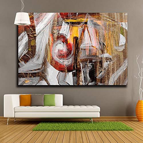 jiushice Telaio Abbellisci Nizza Olio espressivo su Tela Decorazioni per la casa Immagini di Grandi Dimensioni Stampa HD Soggiorno Wall Art Poster Art 50x70cm