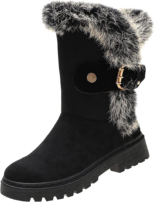 Women's Dressy Short San Antonio Max 82% OFF Mall Boots Buckle Com Comfortable Warm Fur Lined