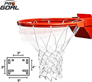 PROGOAL Breakaway Basketball Rim, Heavy Duty Flex Rim Replacement 5/8-In, Standard Goal Reinforced Mounting Bracket Fit Most Size Backboards Indoor and Outdoor