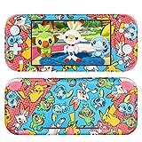 DLseego Switch Lite Skin Sticker,Mignon Animal Autocollant de Film de Peau D'enveloppe Complète Durable Ensemble Complet de Protection Anti-Rayures Accessoires pour Switch Lite - Pokémon