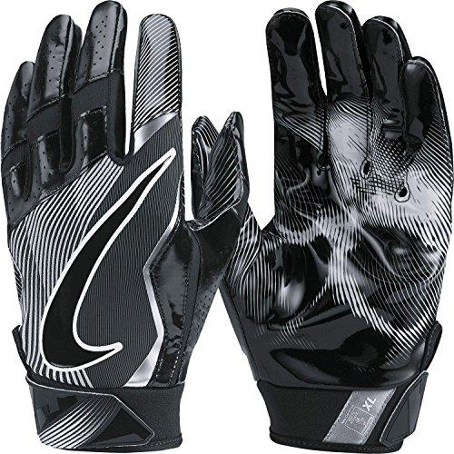 Nike Mens Vapor Jet 4.0 Football Receiver Gloves Black/Wolf Grey...