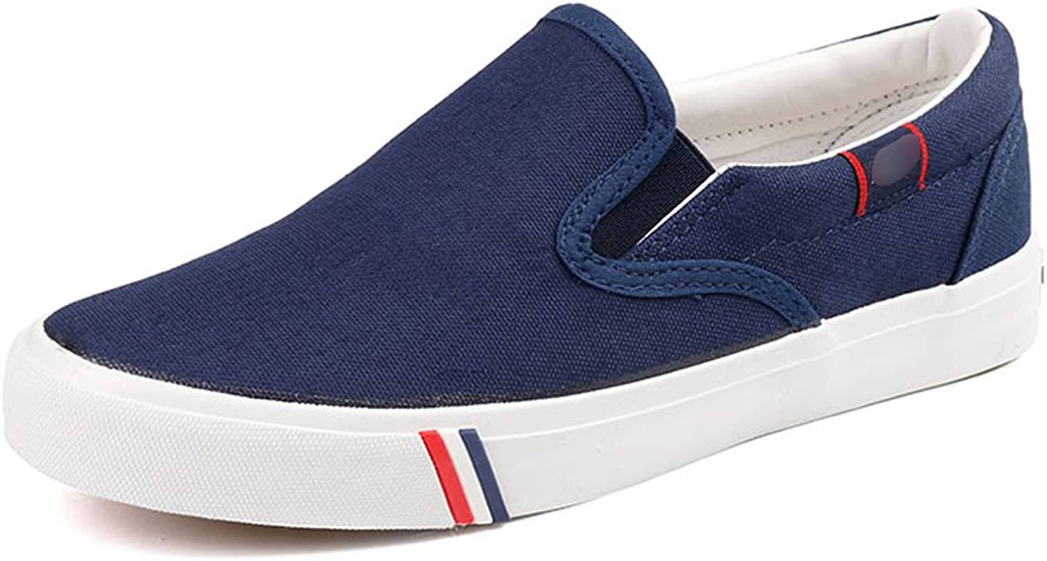 YaNanHome Canvas shoe Boat shoes canvas shoes casual shoes shoes pedal shoes men summer canvas shoes (color   bluee, Size   44)
