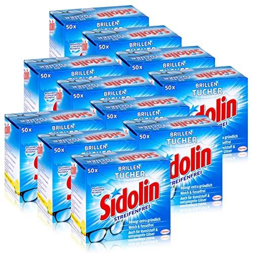 Sidolin Brillen Putztücher 50 stk. Tücher - Reinigt extra gründlich (11er Pack)